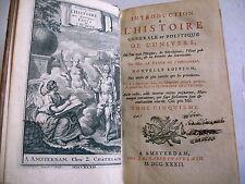 HISTOIRE GENERALE POLITIQUE DE L' UNIVERS Baron de Pufendorff T 5 - 1732