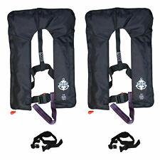 2 Stück * Vollautomatische Rettungsweste mit Schrittgurt und Bergeschlaufe