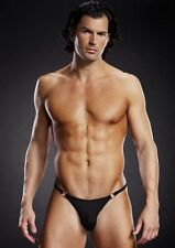 Sexy Microfiber Jock Strap with Metal Rings Male Lingerie Blue Line Brand NWT
