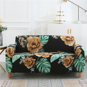 Luxury Roses Floral Elastic Soft Sofa Couch Stretch Loveseat Slipcover Protector