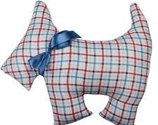 Linens N Things Thomas Check Scotty Dog Novelty Cushion