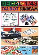 DECAL 1/43 TALBOT SUNBEAM LOTUS H.TOIVONEN & G. FREQUELIN R.PORTUGAL 1980 (01)