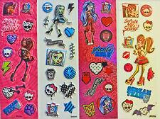4er Sticker Set Monster High Mitgebsel bei Kindergeburtstag Kinder Party