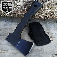"9"" Camping Hunting Tactical Black Mini Axe & Hammer Knife W/Fiber Glass Handle"