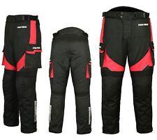 Motorradhose wasserdichte Textilhose ROT Protektoren/Taschen Gr. XS - 6XL