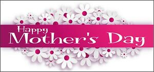 2 Happy Mothers Day Banners Decorations - Mum Stepmum Mummy Nan Grandma Daisy