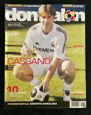 DON BALON 1578 REAL MADRID CASSANO-ATLETICO MADRID-ESPANYOL-BARCELONA-BOCA-RIVER