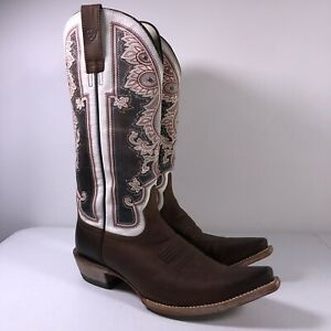 Ariat Alameda  Cowgirl Boots 10011088  Women's size 8.5B Weathered Brown