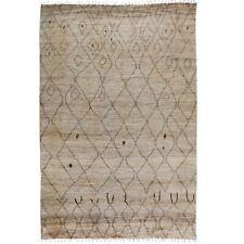 Tribal Geometric Moroccan Wool Hand-Knotted Oriental Area Rug Plush Carpet 10x14