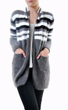 For Love & Lemons Women's Fleetwood Knit Cardigan Grey RRP $180 BCF71