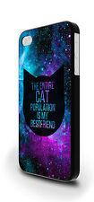 CAT popolazione è il mio migliore amico Cover Custodia Per iPhone 4/4s 5/5s 5c 6 6 Plus