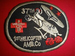 Post Korea War Patch US 37th Medical Detachment 1st Helicopter Ambulance Company