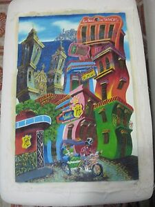 CARIBBEAN Art Oil Oleo Painting  Artist  OLD HAVANA