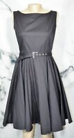 BLACKBUTTERFLY Black Audrey Vintage Inspired Clarity 50s Sleeveless Dress 8