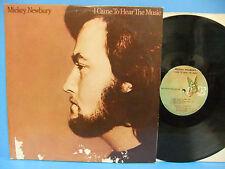 Mickey Newbury I Came To Hear The Music 1974 VG+/G Record Elektra 7E 1007 Insert