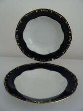 ZSOLNAY PECS HUNGARY ~ POMPADOUR III ~ RIMMED SOUP BOWL ~ SET OF 2
