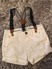 Zara 6-9 Month White Shorts With Braces Bnwt