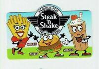 Steak 'n Shake Gift Card - Die-Cut - Fries, Milkshake, Hamburger - No Value