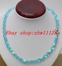 Round Gems Beads Necklace 18''Aa Natural 8mm Blue Rainbow Moonstone