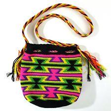 Custom Knitted Women's Bucket Hobo Bag Aztec Colorful
