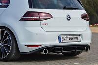 Racing Heckansatz Diffusor aus ABS für VW Golf 7 GTI Clubsport Eintragungsfrei