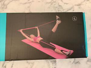 Portable Pilates Bar Kit with Resistance Band Yoga Pilates Stick Exercise Toning
