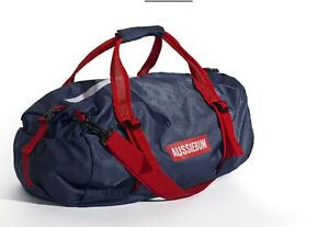 AUSSIEBUM Foldable Navy/Red Poly Beach/Travel bag. Empty bag folds into itself!