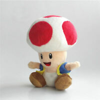 "Super Mario Bros. U Plush Toad Soft Toys Stuffed Animal Dolls Teddy 7"" GCT Hot"
