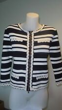 Women's Navy cream striped Alannah Hill Jacket Size 12 - Limited Edition