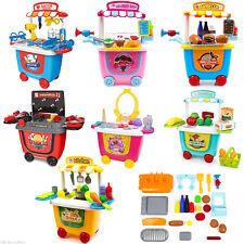 Children Toddler Shopping Cart Play Set Pretend Kids Push Shop Creative Toy Set