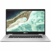"ASUS 15.6"" Chromebook Laptop Celeron N3350 4GB LPDDR4 32GB eMMC Chrome OS USB-C"