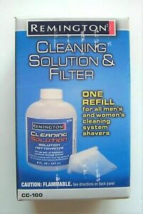 Lot of 2 New Remington Cleaning Solution & Filter One Refill CC-100