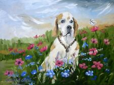 POINTER DOG STUNNING NEW ORIGINAL OIL PAINTING CANVAS SANDRA COEN ARTIST