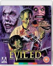 EVIL ED , UNCUT , BLU-RAY & DVD LIMITED ED , ARROW VIDEO + BOOKLET REGION A,B,C