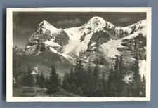 Yvon, Schweiz, Wengernalp mit Eiger und Mönch  Vintage silver print. Switzerland