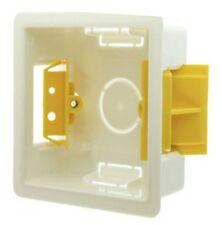 Flush Fit 1 Gang PLASTICA RIVESTIMENTO secco DRY Muro Retro BOX pattress Extra Profonda 47mm