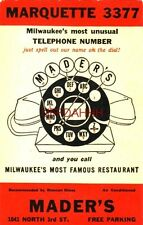 MARQUETTE 3377 MILWAUKEE'S MOST UNUSUAL PHONE NUMBER, DIAL MADERS, MILWAUKEE, WI