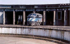 Amtrak E8 passenger diesel locomotive train railroad postcard roundhouse