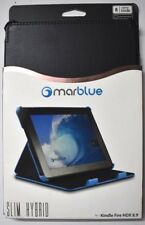 Lot of 10 Marblue Slim Hybrid Leather Cover Folio Case Kindle Fire HDX 8.9 Black