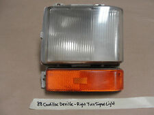 88 Cadillac Deville RIGHT PASSENGER SIDE TURN SIGNAL CORNER MARKER LIGHT LENS