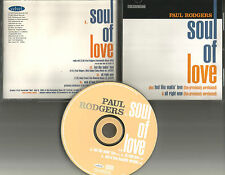 Bad Company PAUL RODGERS Soul of Love 4TRX RARE LIVE & ACOUSTIC PROMO CD single