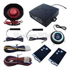 PKE Car Alarm System With Push Button Start Engine &  Remote Control Start