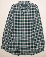 Polo Ralph Lauren Big Tall Mens Green Plaid Performance Flannel Shirt NWT 2XLT