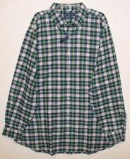 Polo Ralph Lauren Big Tall Mens Green Plaid Performance Flannel Shirt NWT 2XLT