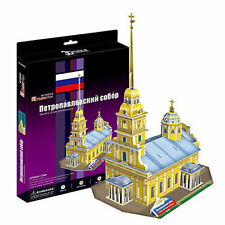3D Puzzle CubicFun - Peter and Paul Cathedral (Russia) - 37 pieces