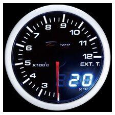 Depo Racing 52mm Celsius Digital EGT Gauge White / Amber WA5257LEDCEL