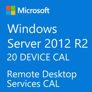 Windows Server 2012 / 2012 R2 Remote Desktop Services RDS 20 DEVICE CAL License