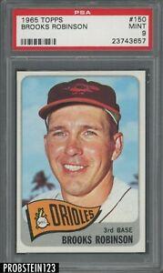 """1965 Topps #150 Brooks Robinson Baltimore Orioles HOF PSA 9 """" RAZOR SHARP """""""