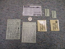 Walthers  decals HO Freight  98-46 Western Pacific bulk sugar  M71