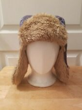 Life is Good Faux Fur Blue Unisex Youth Bomber Trapper Flap Hat T2